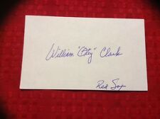 William Otey Clark 1915-2010 Autographed 3x5 Index Card Signed Autograph