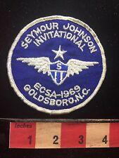 Vtg 1969 SEYMOUR JOHNSON INVITATIONAL GOLDSBORO NORTH CAROLINA Swim Patch C71J