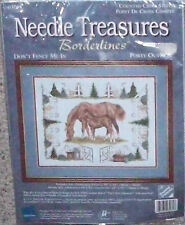 Needle Treasures Borderlines Don't Fence Me In Counted Cross Stitch Kit Sealed