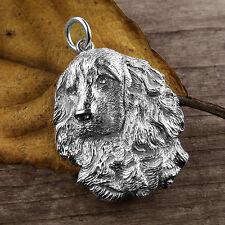 Sterling Silver COCKER SPANIEL DOG Pendant or Charm