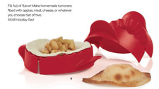 Two Tupperware Ravioli Pizza Rolls Pastry Turnover Empanada Makers Red Brand New