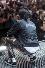 VERY RARE Gucci Black Denim Jacket Coat Embroidered Doves Floral M 48 ASAP ROCKY