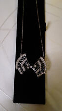 Art Deco style silver and diamante necklace NEW