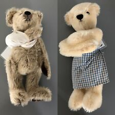 """Dean's Rag Book pair of mohair teddy bears - """"Two's Company"""" for Great Ormond St"""