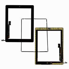 For iPad 4 Black Replacement Screen Touch Digitizer+Frame Bezel+Home Button Flex