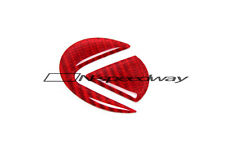 RED Carbon Fiber Steering Wheel Emblem Logo Insert Decal For Lexus IS GS (Small)