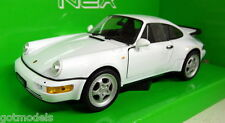 Porsche 911 / 964 Turbo in White 1/24 Scale Model by WELLY