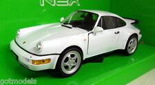 Nex models 1/24 Scale 24023W Porsche 911 964 Turbo White Diecast model car