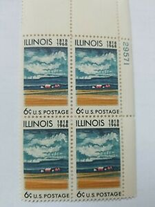 Scott # 1339 - US Plate Block Of 4 - Illinois Statehood - MNH - 1968