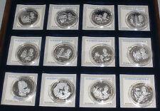 Präsidenten der USA,Göde,12 Medaillen, Silber, 999 Silber, Feinsilber, Sammlung