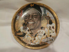 Vintage Baseball The Hamilton Collection WILLIE MAYS Numbered Yankees Plate