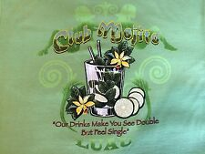 Luau 100% Cotton Short Sleeve Tee Shirt (M) ~ NWT ~ Club Mojito #M033623