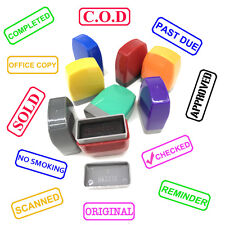 custom pre self inking office rubber stamp COD CHECKED SOLD COMPLETED SCANNED