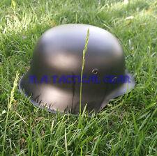 Relics WWII WW2 German M42 Helmet Army Black Color Genuine Leather Liner ET66