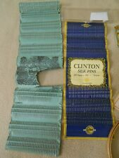2 Vintage Pin Packs /180 Clinton Brass Silk /300 Wallace & Sons Eagle /Sewing