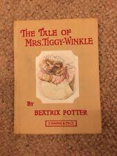 The Tale Of Mrs. Tiggy-Winkle, Beatrix Potter, F. Warne & Co., Ltd, Tan, 1961