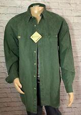 Rare! NWT! Columbia White Horse Button Front Safari Shirt Hunter Green Mens XL