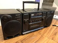 Sony CFD-510 - Big vintage Boombox With Detachable Speakers Compact Stereo Tape