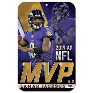 "LAMAR JACKSON 2019 NFL MVP BALTIMORE RAVENS 11""X17"" PLASTIC SIGN DURABLE"
