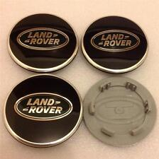 New Range Rover Sport Vogue Evoque Alloy Wheel Centre Caps Set(4)Black & Green