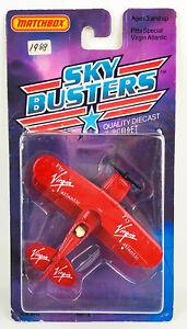 Matchbox 1988 Pitts Special Virgin Atlantic Propeller Plane Sky Busters
