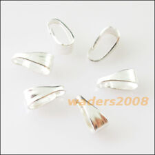200 New Connectors Gold Silver Bronze Plated Pendant Pinch Clip Clasp Bail 3x7mm