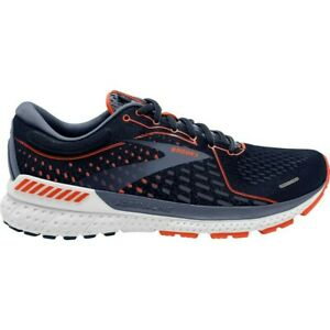 Brooks Men's Adrenaline GTS 21 WIDE  Navy/Red Clay/Gray Running Shoes