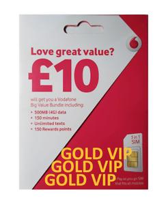 Vodafone Sim Card Easy Mobile Number GOLD VIP Fancy '0755 20 88 399