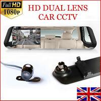 16GB FULL HD in Car Rear View Mirror CCTV Security Dual Camera Recorder DASH CAM