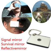 Outdoor Emergency Floating Signal Mirror Suvival Bushcraft EDC Portable Aiming T