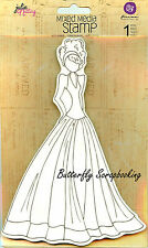 Doll Stamp PRIMA MARKETING INC Cling Foam Unmounted Rubber Stamp NEW, #910280