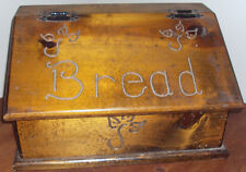 VINTAGE LARGE KITCHEN WOODEN BREAD BOX