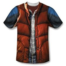 Back To The Future Mcfly Vest Sublimation Clearance Adult T Shirt 3XL