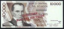 Ecuador Pk-127s3 1995 10,000 Sucres Specimen