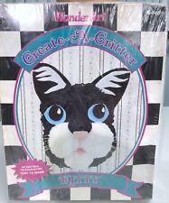 Wonderart Create-A-Critter Kitty Cat Latch Hook Rug Kit