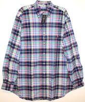 Polo Ralph Lauren Big Tall Mens XLT Multi-Color Plaid Button-Front Shirt NWT XLT