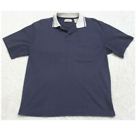 St. John's Bay Blue Pocket Polo Shirt Short Sleeve Men's Top Large Cotton Poly