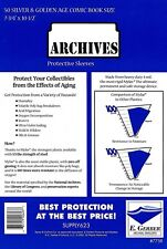 50 Mylar Archives 4 mil SILVER/ GOLD HEAVY DUTY Comic  Bag Sleeves E.Gerber 775R