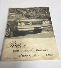 VTG Car Ad RICH'S Soft Cushion Bumper Hi-dro Cushion Cells Sacramento CA RARE