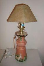 Vintage Porcelain Rabbit-Bunny image Table Lamp 1996  / Storage 20+ years / New