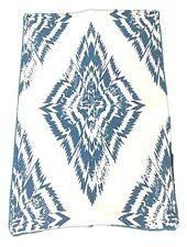 "All'Asta Throw Pillow Cover Cotton Indigo Blue Batik Couch Living Room 17x17"""