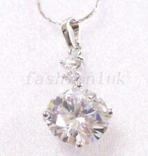 White Gold Simulated CZ Costume Necklaces & Pendants