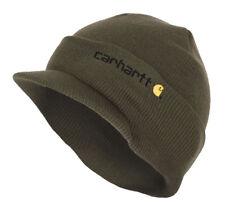 d16f041281c Carhartt Winter Hat with Visor - Green CHA164ARG Mens Beanie with peak Hat
