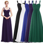 Long Bridesmaid Cocktail Formal Evening Party Xmas Dresses Prom Gown Maxi Dress