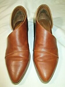 Universal thread Women's Slip On Brown Shoes Size 8.5 Open Side Ankle Bootie LKN