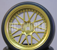 RC Car 1/10  DRIFT WHEELS TIRES Package 3MM Offset  GOLD BBS Style  *SET OF 4*
