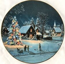 """Oh Christmas Tree� Jesse Barnes Plate # 69063 Limited Edition Bradford Exchange"