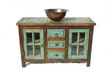 """Custom Rustic Turquoise Bathroom Vanity 48"""" wide"""