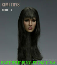 KIMI KT011 B 1/6 Female Head Sculpt Black Hair For Hot Toys Phicen Figure ❶USA❶