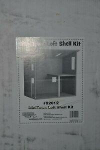 NEW Mini Town Loft Shell Kit Miniatures Dollhouse 92012 Wooden House